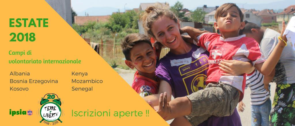 Campi di volontariato estate 2018: iscrizioni aperte