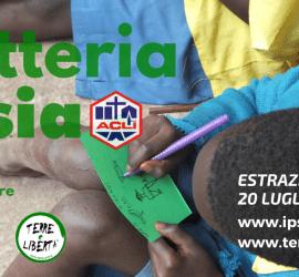 Puoi sostenere l'iniziativa e partecipare all'estrazione acquistando i biglietti con un contributo di 2 €. I tagliandi della lotteria si possono trovare presso la sede di IPSIA a Milano (via della Signora 3) o tramite i responsabili del progetto. Hai tempo fino al giorno dell'estrazione. L'estrazione dei numeri vincenti e l'assegnazione dei premi si terrà venerdì 11 luglio 2014 (alle ore 20, presso le ACLI provinciali di Milano, via della Signora 3). Per informazioni e per acquistare i biglietti: IPSIA Milano (c/o ACLI provinciali di Milano), via della Signora 3 tel. 02 7723227 ― terreliberta@acli.it Se vuoi, scarica il volantino e aiutaci a diffondere l'iniziativa!