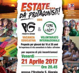 Campi di volontariato / Presentazione Limbiate 21 aprile 2017