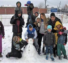 Campo di volontariato invernale in kosovo